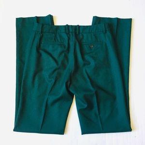 J. Crew Pants - JCrew Hunter Green Wool Straight Leg Trouser Pants